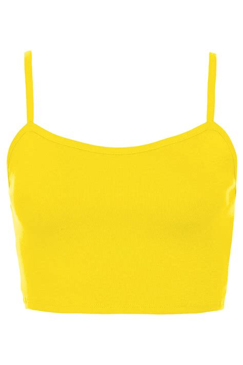 best yellow topshop bralet crop top in yellow lyst