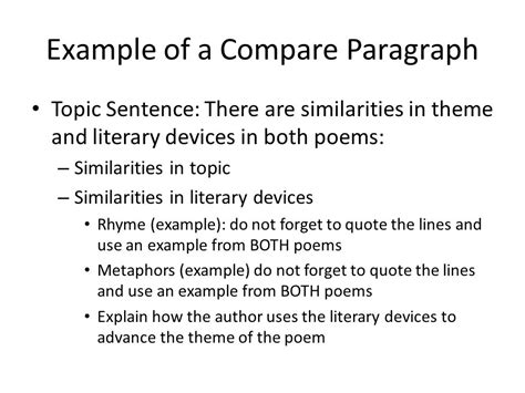 theme paragraph definition compare and contrast essay exle ppt video online download