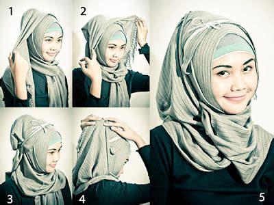 video gambar tutorial cara memakai jilbab modern cara pakai kerudung