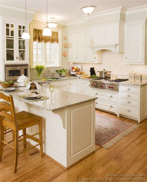 Kitchen Peninsula Cabinets Pictures Of Kitchens Traditional White Kitchen Cabinets Page 5