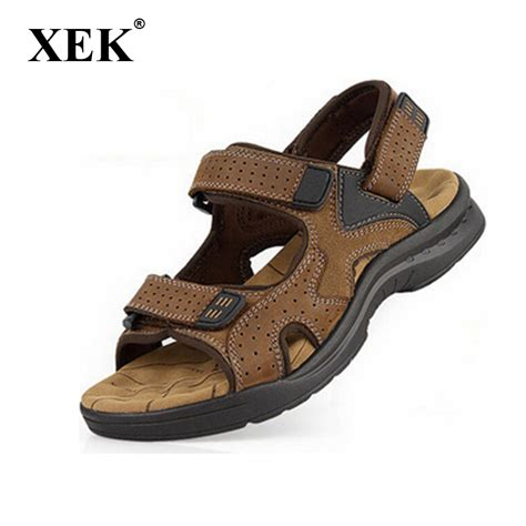 mens outdoor sandals new 2017 mens sandals genuine leather cowhide sandals