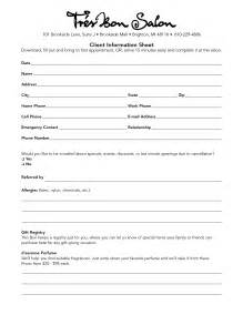 Client Information Form Template Free by 5 Best Images Of Client Information Sheet Printable Hair