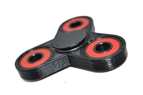 3d printed desk toys 3d printed tri fidget spinner black spinner with