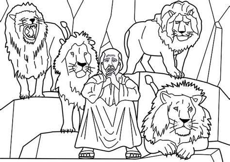 daniel and the lions den coloring pages print coloring