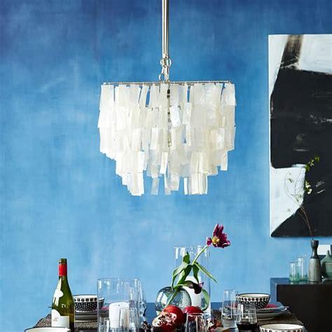 west elm capiz chandelier large rectangle hanging capiz chandelier white west elm
