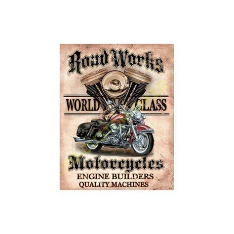 plaque metal decorative world class motocustombiker