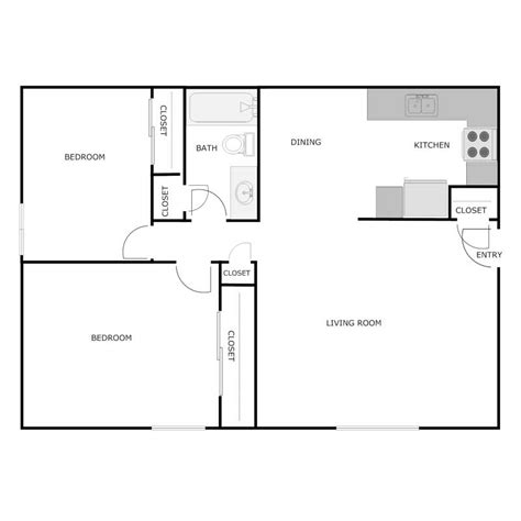 2 bedroom 1 bath floor plans 2 bedroom 1 bath apartment floor plans
