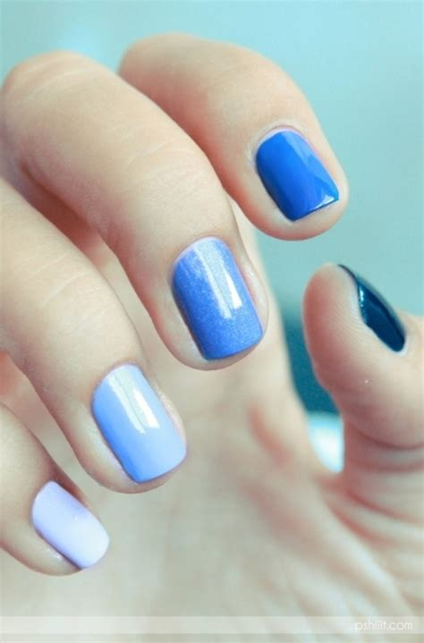 shades of blue design different shades of blue nails pictures photos and