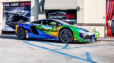 wrapped lamborghini cars girls uniquely wrapped lamborghini aventador