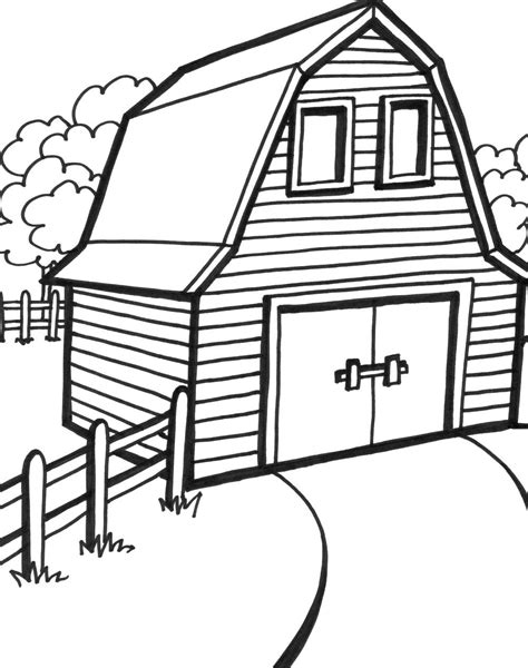 barn house coloring page barn printable coloring pages coloring home