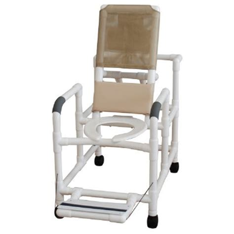 pvc reclining shower chair 20 quot pvc reclining shower commode chair open front seat