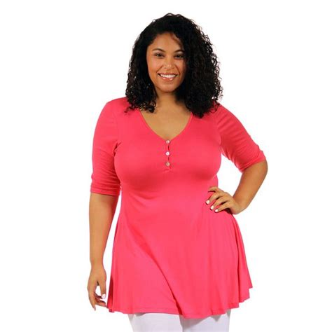 Best Quality Lusiana Tunic 1 24 7 comfort apparel s plus tunic top overstock shopping top 24 7 comfort