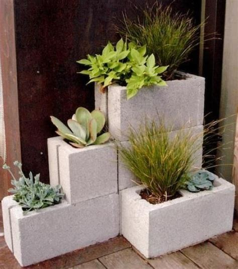 cinder block planters by cornelia gardening outdoors
