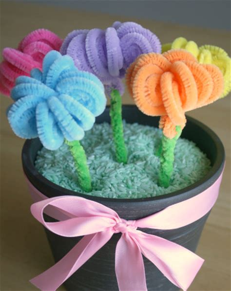 fiori con s s day pipe cleaner flower bouquet make and takes
