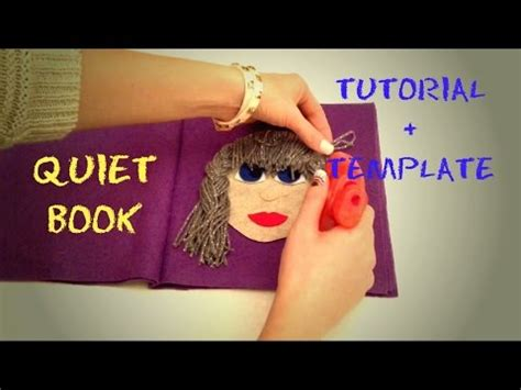 quiet book tutorial no sew template quiet book bez