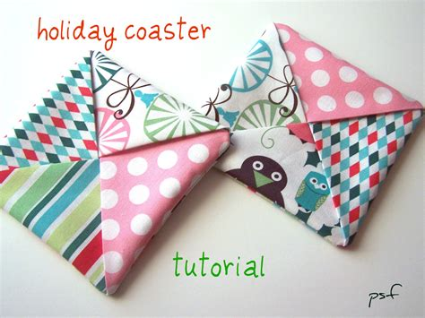 poppyseed fabrics holiday coaster tutorial updated last