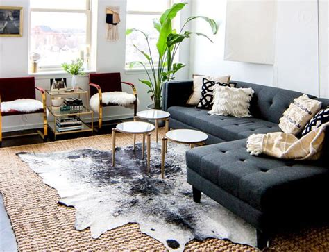 Living Room With Cowhide Rug by Brindle Cowhide Rug Living Room Tedx Decors The