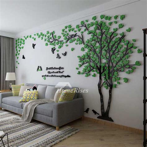tree wall decal  living room greenyellow acrylic