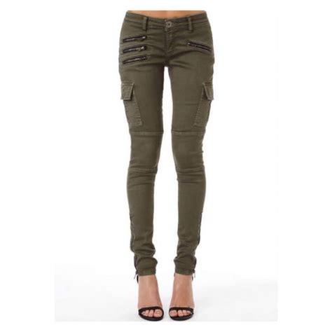 Green Zipper Pant khaki olive green zip cargo cargo pockets