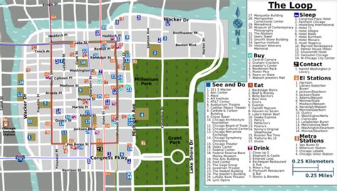 chicago loop map chicago loop wikitravel