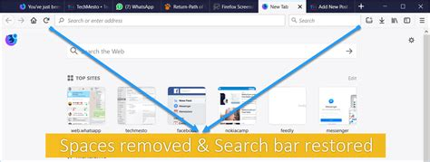 Address Bar Search Not Working Add Search Bar Remove Blank Space Around Address Bar In Firefox 57