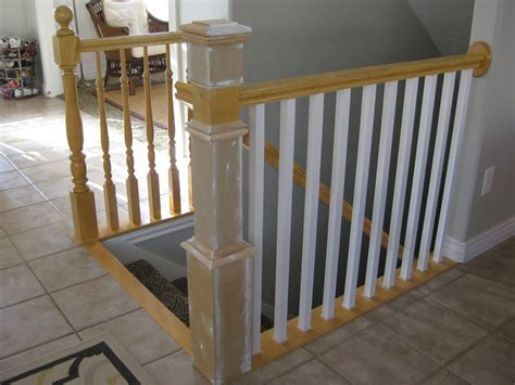 how to install stair banister replacing stair banisters and railings joy studio design
