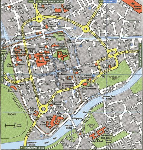 map uk chester maps of chester