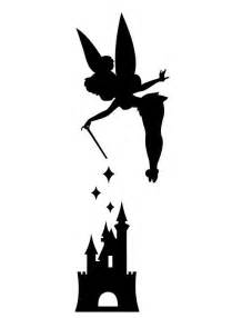 tinkerbell pumpkin carving templates tinker bell with disneyland castle vinyl decal sticker