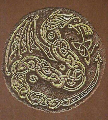 design artefacts meaning celtic dragon knot fantisey pinterest