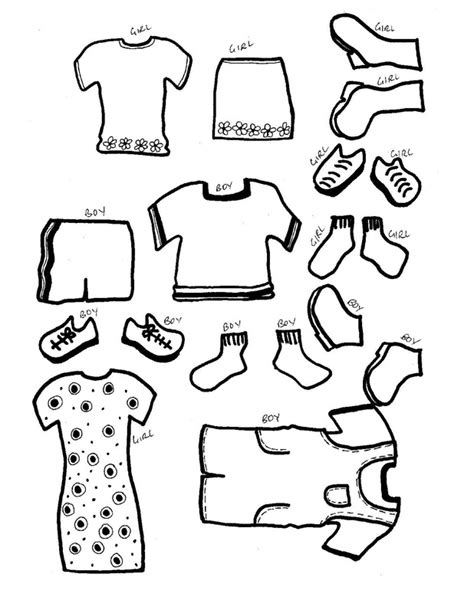 Clothing Templates paper dolls with clothes craft n home