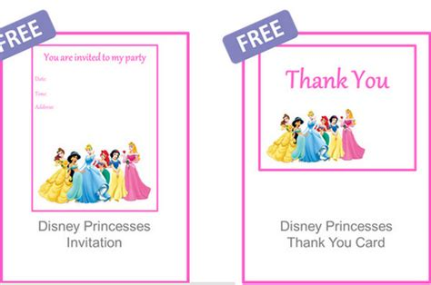 disney princess thank you card template 16 ideas for the princess brisbane