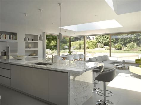 marble kitchen designs crook a minimal white marble kitchen from roundhouse design