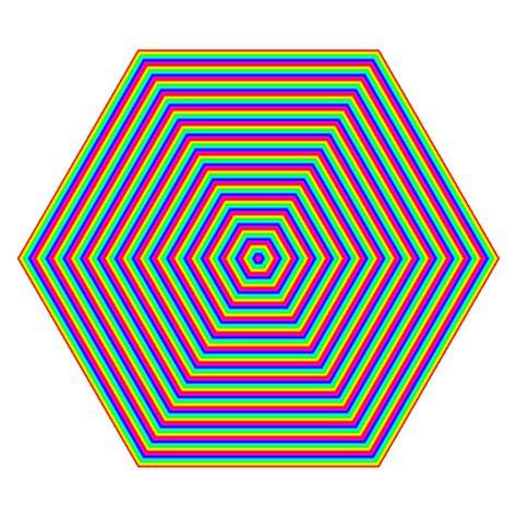 Optical Illusions Wallpaper rainbow hexagon spin ripple by 10binary on deviantart