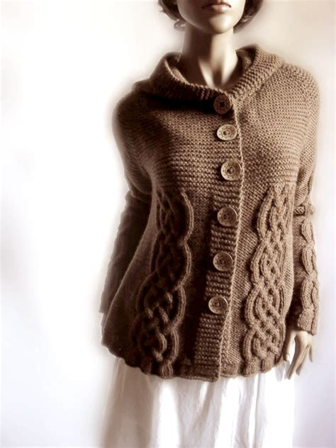 knit sweater knit sweater womens cable knit cardigan hooded coat