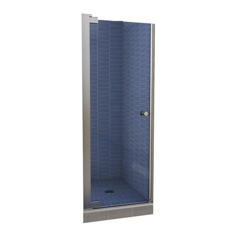 Shower Door At Home Depot Maax Insight 30 1 2 In X 67 In Swing Open Semi Framed Pivot Shower Door In Chrome With 6 Mm