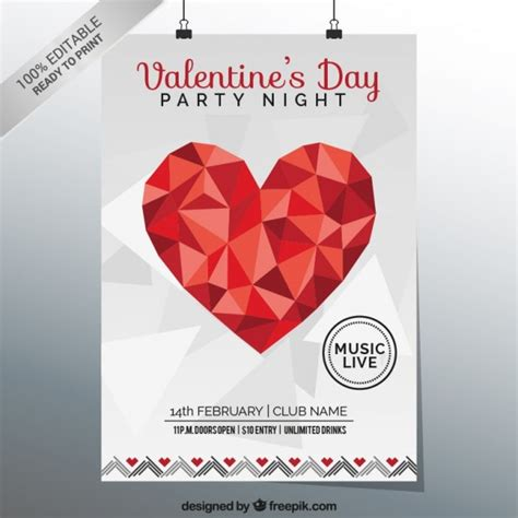 valentines poster s poster vector free