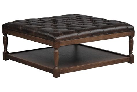 harlin leather cocktail ottoman cocktail ottoman