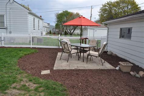 diy gravel and paver patio carri us home diy paver patio