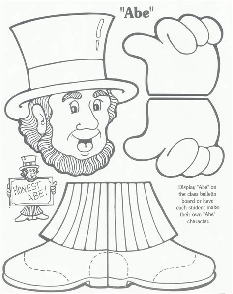 abraham lincoln coloring pages for kindergarten free coloring pages of kindergarten art project