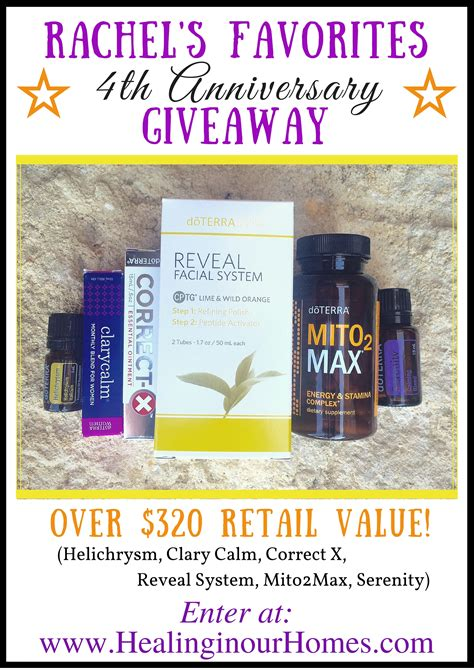 Doterra Giveaway - doterra anniversary giveaway healing in our homes