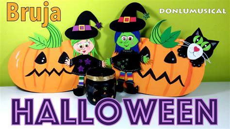 imagenes de halloween en foami manualidades de halloween brujas portavelas donlumusical