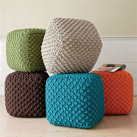 How To Make A Square Pouf Ottoman by Square Poufs Foot Rests Or Casual Seating I
