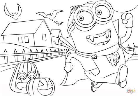 minion coloring page halloween minions hallowen coloring page free printable coloring pages