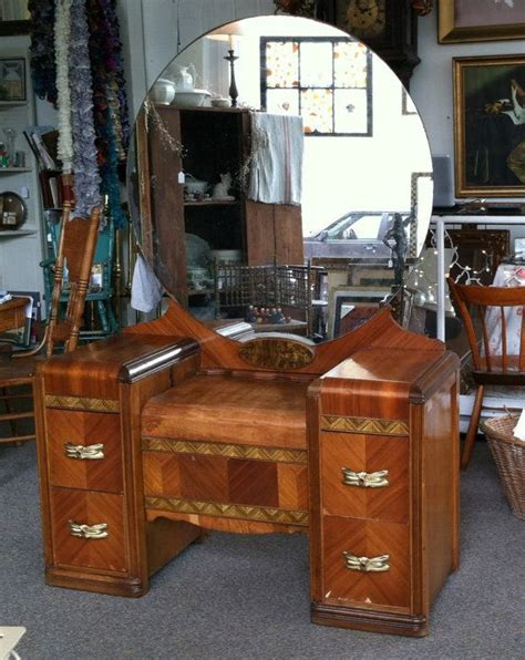 1930s Vanity Table by 1930 1940 S Deco Wood Inlay Vanity Dressing Table With