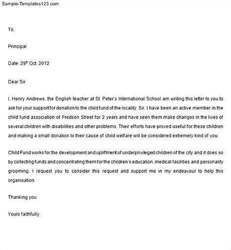 Money Support Letter Template Letter Of Support For Grant Sle Templates