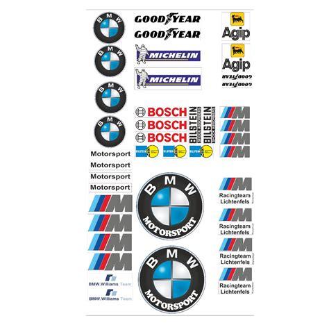 Auto Aufkleber Marken by Bmw Logo Autoaufkleber Sponsoren Marken Aufkleber Decals