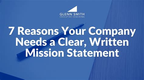 stanley mission statement 7 reasons your company needs a clear written mission