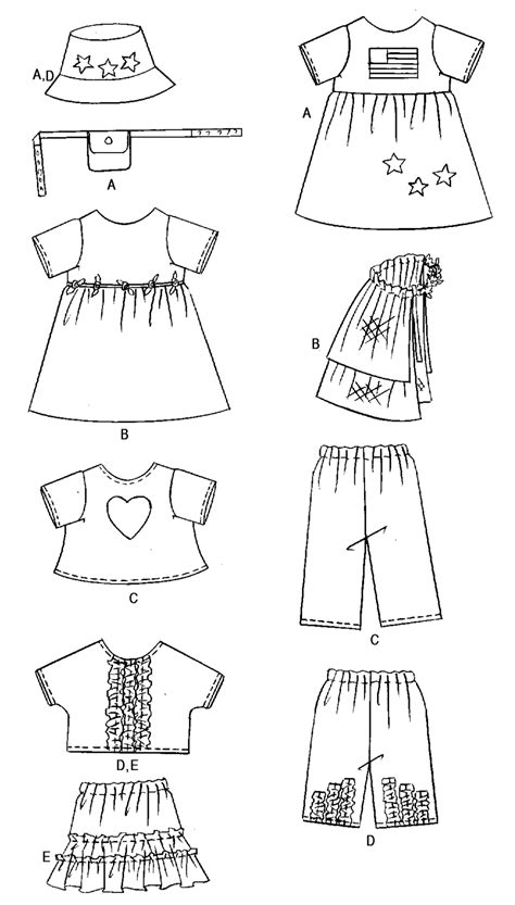 free pattern of clothes free printable doll clothes patterns images butterick