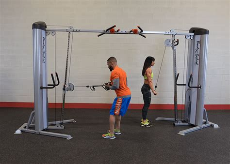 bench press cable machine body solid series 2 cable crossover the bench press com