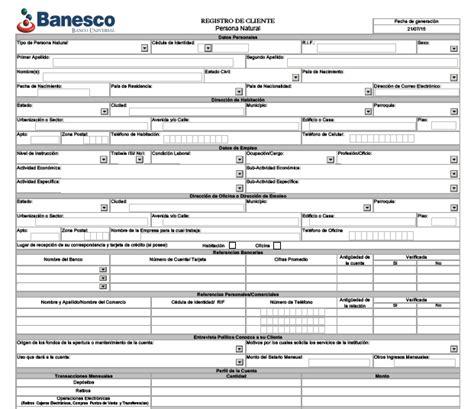 planillas de apertura de cuenta del banco banesco planilla apertura de cuenta banesco planilla para